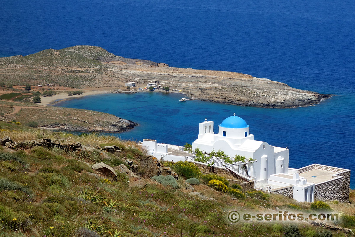The chapel of Panagia Skopiani in Serifos