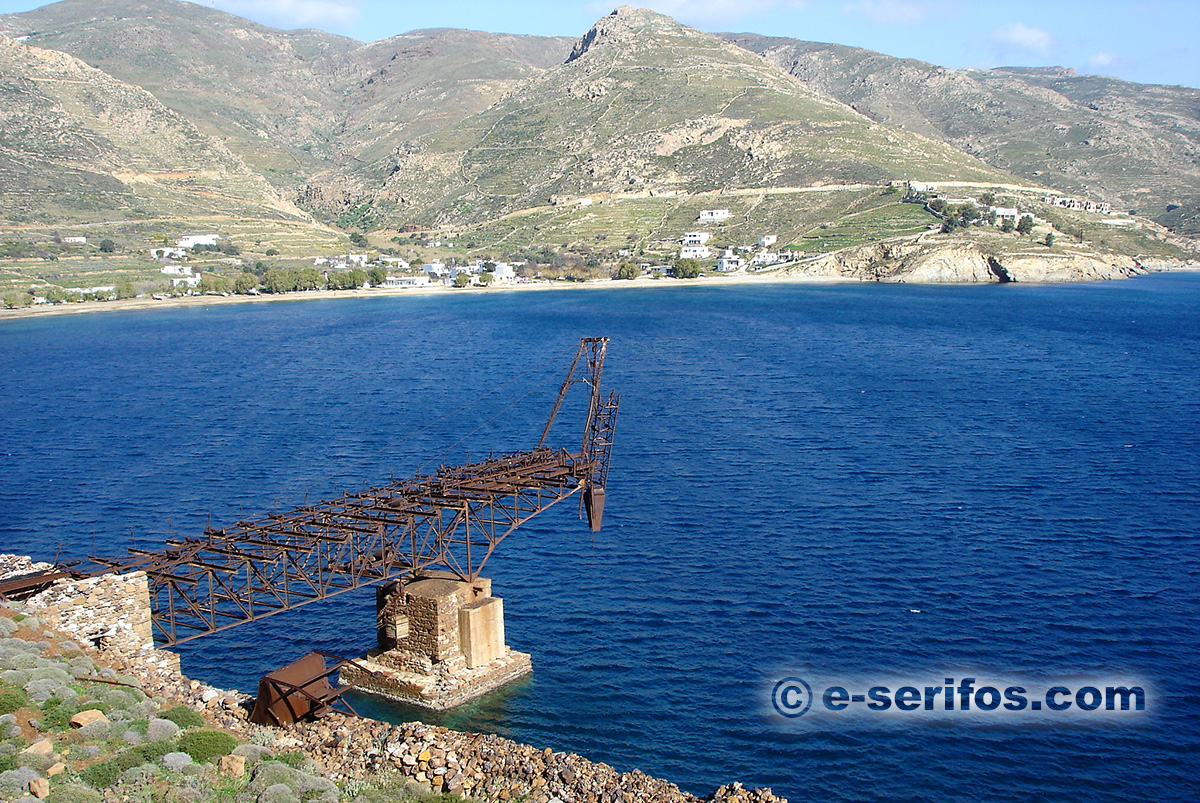 Remnants of mining facilities in Koutalas of Serifos