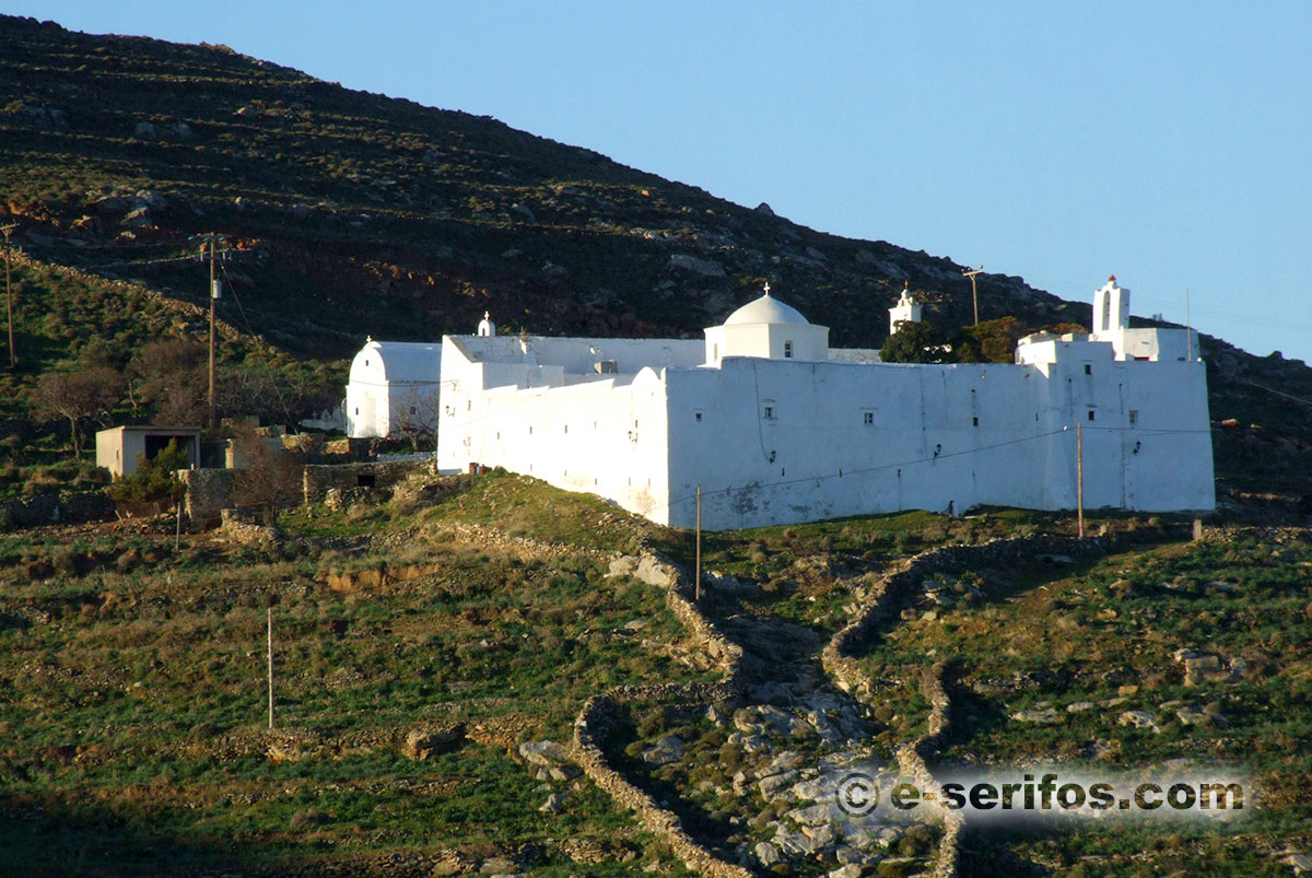 Taxiarxhes Monastery in Serifos
