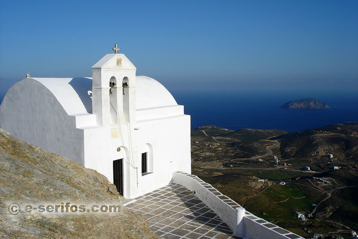 A church at the kastro of Chora in Serifos