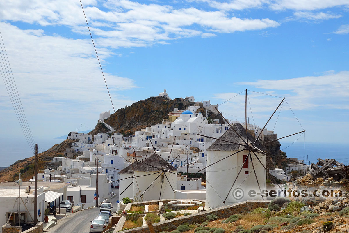 The windmills in Chora of Serifos