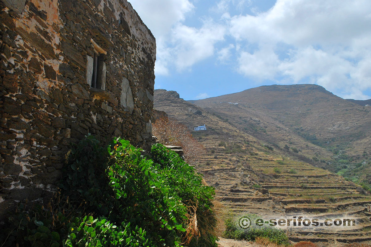 Abandoned building in the village Galani