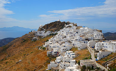 Settlements in Serifos