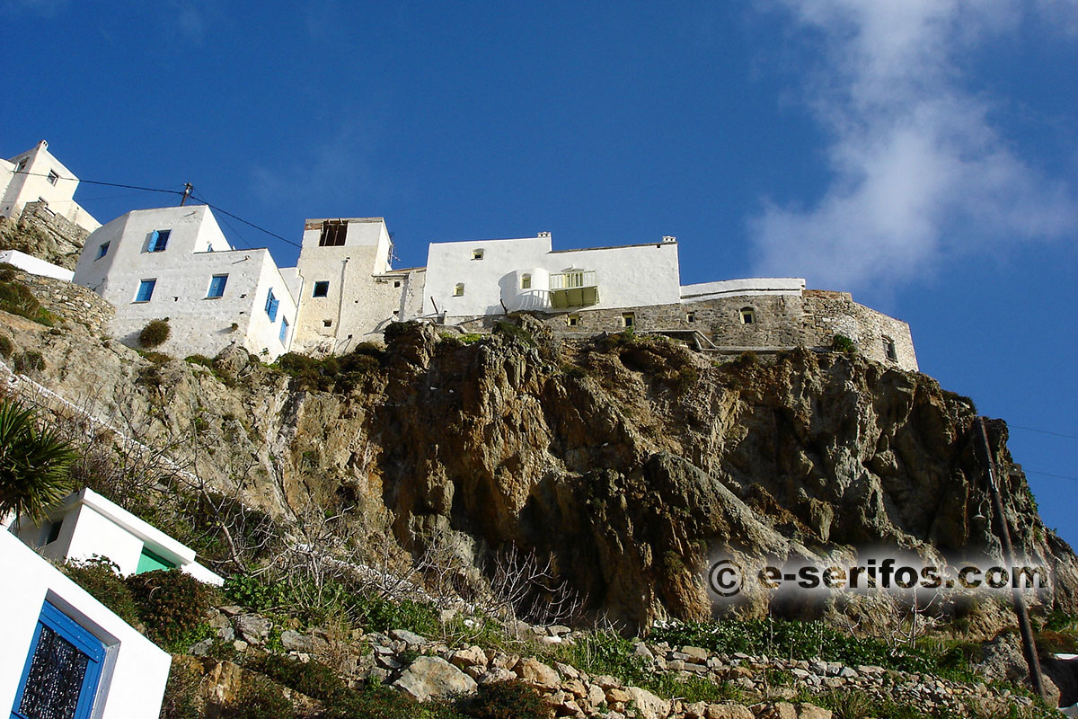 Traditional architecture of Serifos in Chora
