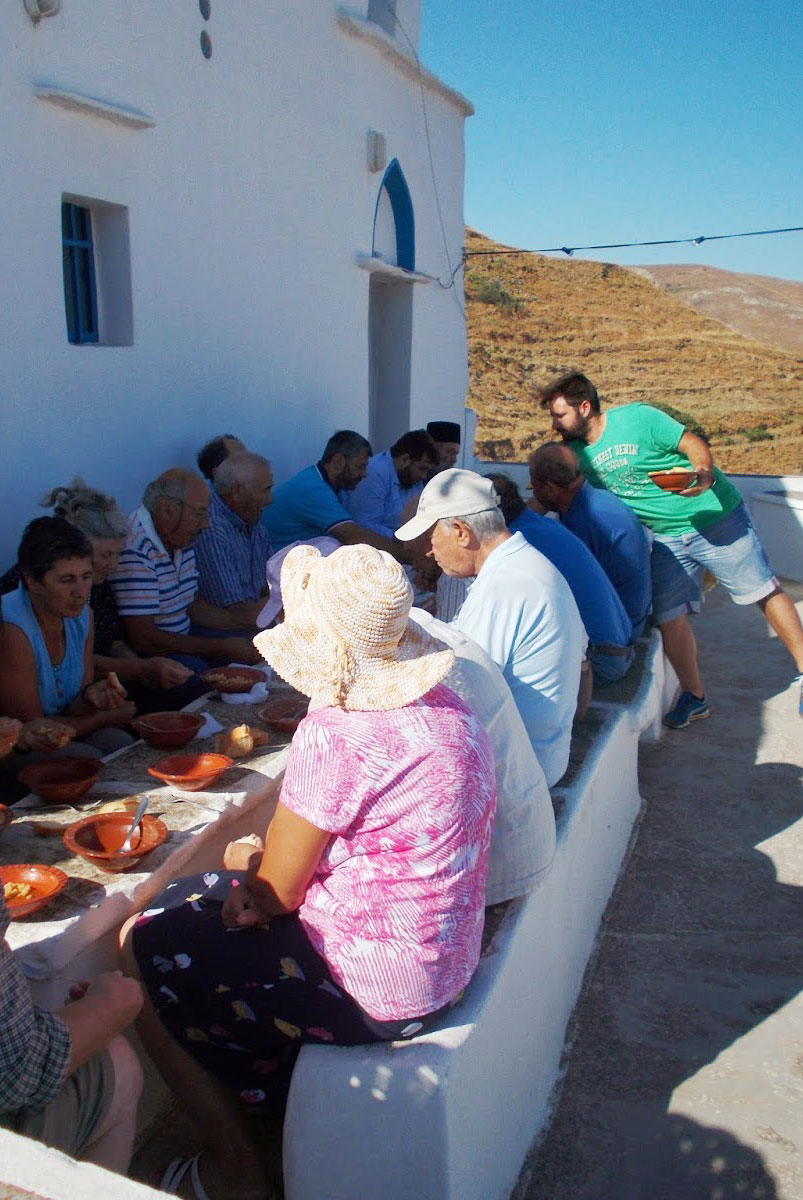 Traditional religious festival in Serifos