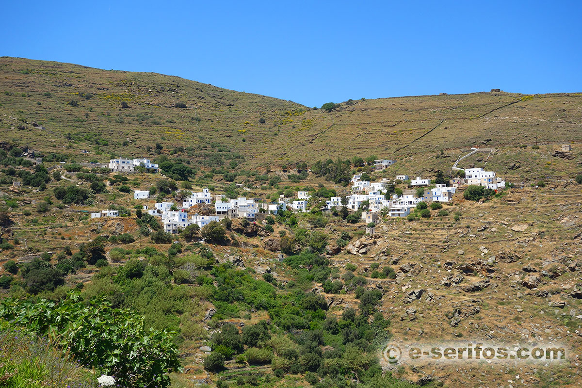 The amphitheatrically built settlement Kentarhos in Serifos